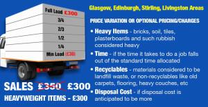 Junk & Rubbish Removal Variable Prices Glasgow & Edinburgh